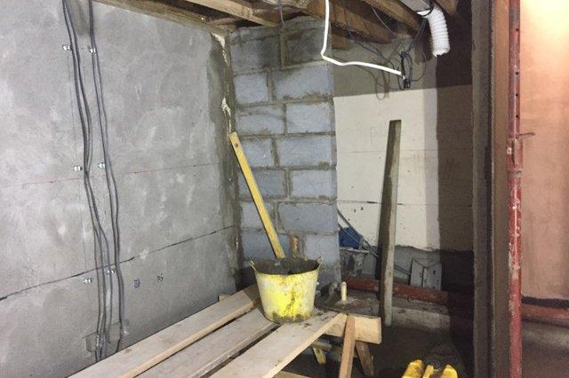 wall redo damp
